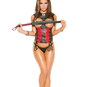 Leather Corset With Lace Up Front